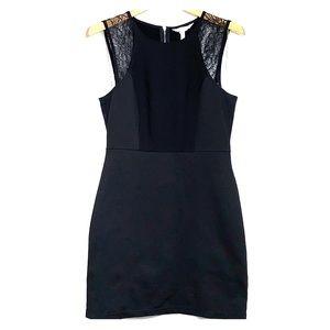 BCBGENERATION • LBD Lace Inserts Black Dress